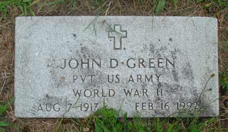 GREEN, JOHN D - Tillamook County, Oregon | JOHN D GREEN - Oregon Gravestone Photos