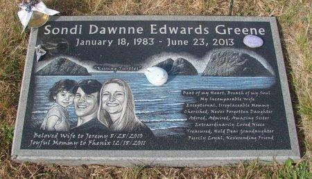 GREENE, SONDI DAWNNE - Tillamook County, Oregon | SONDI DAWNNE GREENE - Oregon Gravestone Photos