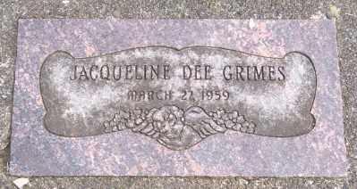 GRIMES, JACQUELINE DEE - Tillamook County, Oregon   JACQUELINE DEE GRIMES - Oregon Gravestone Photos