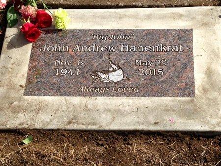 HANENKRAT, JOHN ANDREW - Tillamook County, Oregon | JOHN ANDREW HANENKRAT - Oregon Gravestone Photos