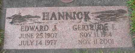 HANNICK, EDWARD JOSEPH - Tillamook County, Oregon | EDWARD JOSEPH HANNICK - Oregon Gravestone Photos