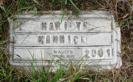 HANNICK, MARILYN - Tillamook County, Oregon | MARILYN HANNICK - Oregon Gravestone Photos