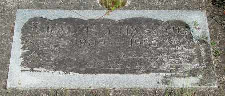 HASSING, RALPH J - Tillamook County, Oregon | RALPH J HASSING - Oregon Gravestone Photos