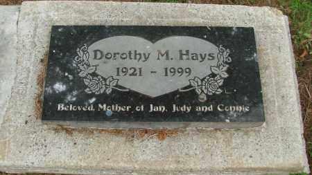 HAYS, DOROTHY M - Tillamook County, Oregon | DOROTHY M HAYS - Oregon Gravestone Photos