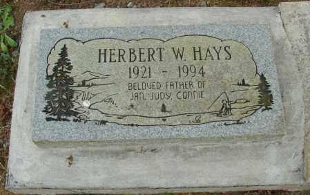 HAYS, HERBERT W - Tillamook County, Oregon | HERBERT W HAYS - Oregon Gravestone Photos