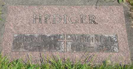 HEDIGER, VIRGINIA L - Tillamook County, Oregon | VIRGINIA L HEDIGER - Oregon Gravestone Photos