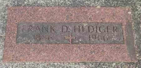 HEDIGER, FRANK D - Tillamook County, Oregon | FRANK D HEDIGER - Oregon Gravestone Photos