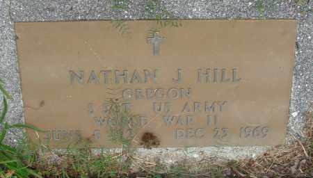HILL, NATHAN J - Tillamook County, Oregon | NATHAN J HILL - Oregon Gravestone Photos