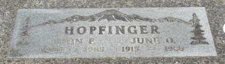 HOPFINGER, JOHN F - Tillamook County, Oregon   JOHN F HOPFINGER - Oregon Gravestone Photos