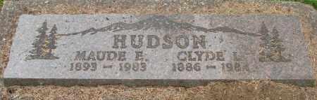 HUDSON, CLYDE L - Tillamook County, Oregon   CLYDE L HUDSON - Oregon Gravestone Photos