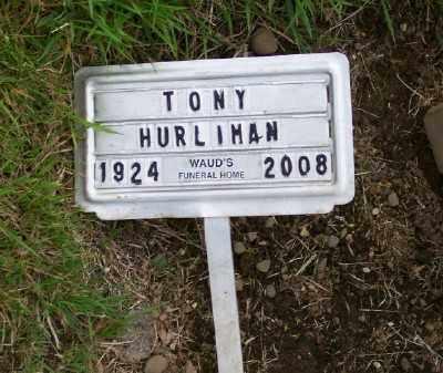 HURLIMAN, TONY - Tillamook County, Oregon | TONY HURLIMAN - Oregon Gravestone Photos