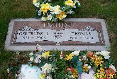 IMHOF, THOMAS - Tillamook County, Oregon | THOMAS IMHOF - Oregon Gravestone Photos