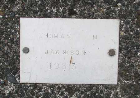 JACKSON, THOMAS M - Tillamook County, Oregon   THOMAS M JACKSON - Oregon Gravestone Photos