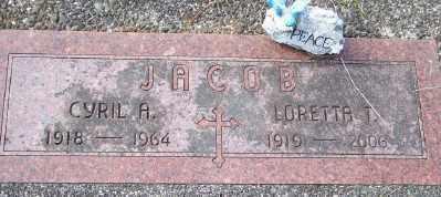 JACOB, CYRIL A - Tillamook County, Oregon | CYRIL A JACOB - Oregon Gravestone Photos