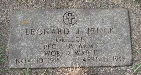 JENCK (WWII), LEONARD J - Tillamook County, Oregon   LEONARD J JENCK (WWII) - Oregon Gravestone Photos