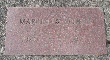 JOHNS, MARTIN W - Tillamook County, Oregon | MARTIN W JOHNS - Oregon Gravestone Photos