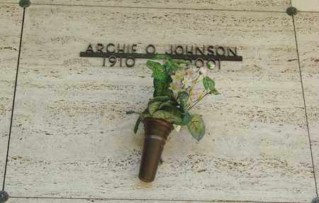 JOHNSON, ARCHIE O - Tillamook County, Oregon   ARCHIE O JOHNSON - Oregon Gravestone Photos