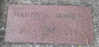 JOHNSON, MARTIN E - Tillamook County, Oregon   MARTIN E JOHNSON - Oregon Gravestone Photos