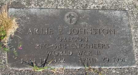 JOHNSTON (WWII), ARLIE EDWARD - Tillamook County, Oregon   ARLIE EDWARD JOHNSTON (WWII) - Oregon Gravestone Photos