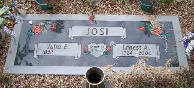 JOSI, ERNEST A - Tillamook County, Oregon | ERNEST A JOSI - Oregon Gravestone Photos