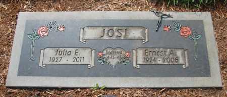 JOSI, ERNEST A - Tillamook County, Oregon | ERNEST A JOSI - Oregon Gravestone Photos