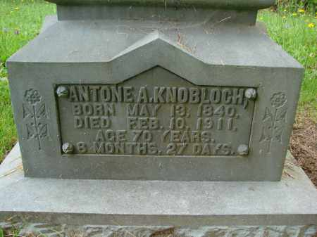 KNOBLOCH, ANTONE A - Tillamook County, Oregon | ANTONE A KNOBLOCH - Oregon Gravestone Photos