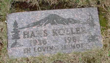 KOLLER, HANS - Tillamook County, Oregon   HANS KOLLER - Oregon Gravestone Photos