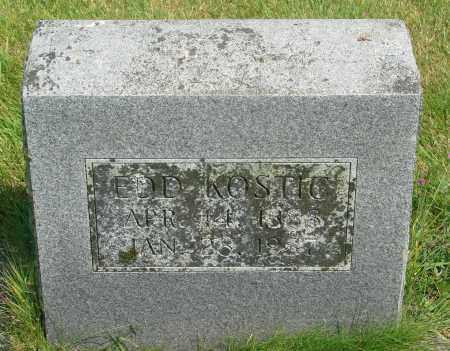 KOSTIC, EDWARD - Tillamook County, Oregon | EDWARD KOSTIC - Oregon Gravestone Photos