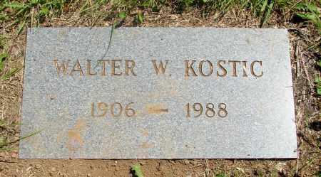 KOSTIC, WALTER WALDO - Tillamook County, Oregon | WALTER WALDO KOSTIC - Oregon Gravestone Photos
