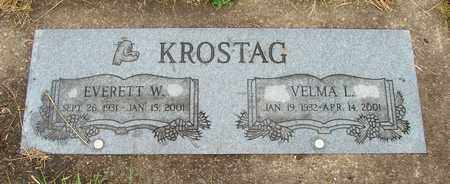 KROSTAG, EVERETT W - Tillamook County, Oregon | EVERETT W KROSTAG - Oregon Gravestone Photos
