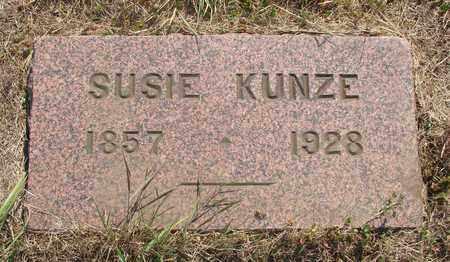 KUNZE, SUSIE - Tillamook County, Oregon   SUSIE KUNZE - Oregon Gravestone Photos