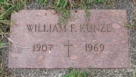 KUNZE, WILLIAM F - Tillamook County, Oregon | WILLIAM F KUNZE - Oregon Gravestone Photos