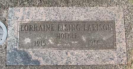 ELSING LARISON, LORRAINE - Tillamook County, Oregon | LORRAINE ELSING LARISON - Oregon Gravestone Photos