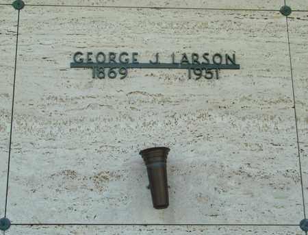 LARSON, GEORGE J - Tillamook County, Oregon   GEORGE J LARSON - Oregon Gravestone Photos