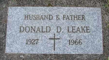 LEAKE, DONALD D - Tillamook County, Oregon | DONALD D LEAKE - Oregon Gravestone Photos