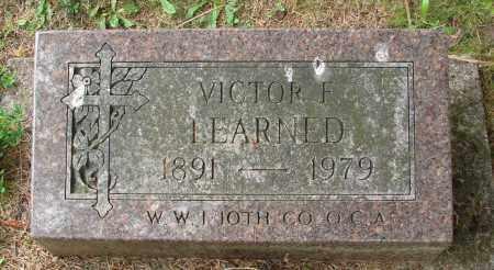 LEARNED, VICTOR F - Tillamook County, Oregon | VICTOR F LEARNED - Oregon Gravestone Photos