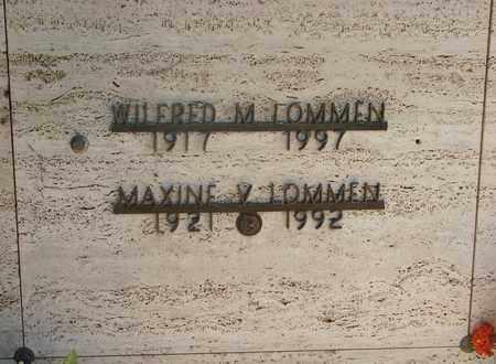 LOMMEN, MAXINE VIRGINIA - Tillamook County, Oregon | MAXINE VIRGINIA LOMMEN - Oregon Gravestone Photos
