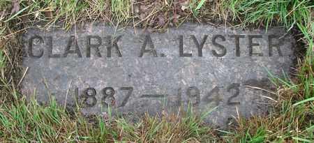 LYSTER, CLARK A - Tillamook County, Oregon | CLARK A LYSTER - Oregon Gravestone Photos