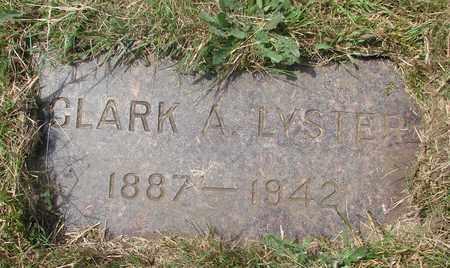 LYSTER, CLARK A - Tillamook County, Oregon   CLARK A LYSTER - Oregon Gravestone Photos