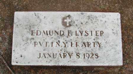 LYSTER (CW), EDMUND FRANCIS - Tillamook County, Oregon   EDMUND FRANCIS LYSTER (CW) - Oregon Gravestone Photos
