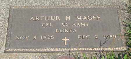 MAGEE, ARTHUR H - Tillamook County, Oregon | ARTHUR H MAGEE - Oregon Gravestone Photos