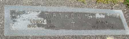 MATKOVICH, LOUISE M - Tillamook County, Oregon | LOUISE M MATKOVICH - Oregon Gravestone Photos
