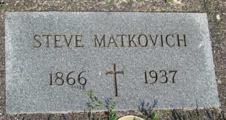 MATKOVICH, STEVE - Tillamook County, Oregon   STEVE MATKOVICH - Oregon Gravestone Photos