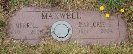 MAXWELL, MERRILL - Tillamook County, Oregon | MERRILL MAXWELL - Oregon Gravestone Photos