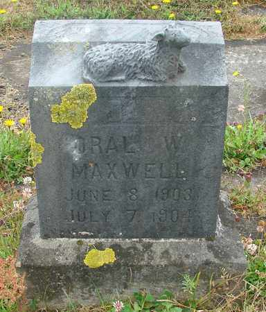 MAXWELL, ORAL W - Tillamook County, Oregon   ORAL W MAXWELL - Oregon Gravestone Photos