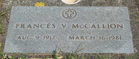 MCCALLION, FRANCES V - Tillamook County, Oregon | FRANCES V MCCALLION - Oregon Gravestone Photos