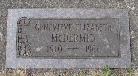MCDERMID, GENEVIEVE ELIZABETH - Tillamook County, Oregon | GENEVIEVE ELIZABETH MCDERMID - Oregon Gravestone Photos