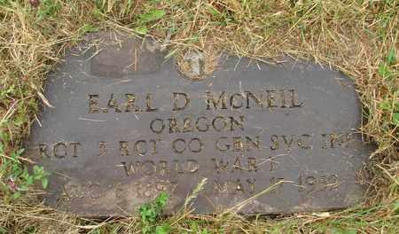 MCNEIL, EARL D - Tillamook County, Oregon | EARL D MCNEIL - Oregon Gravestone Photos