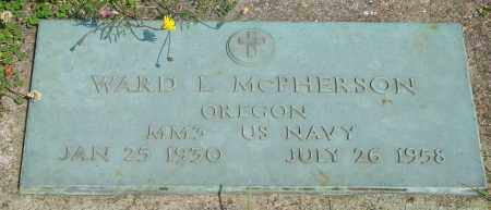 MCPHERSON (SERV), WARD L - Tillamook County, Oregon   WARD L MCPHERSON (SERV) - Oregon Gravestone Photos