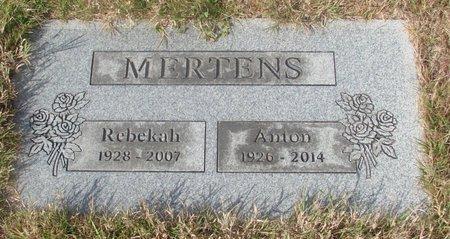MERTENS, REBEKAH - Tillamook County, Oregon | REBEKAH MERTENS - Oregon Gravestone Photos